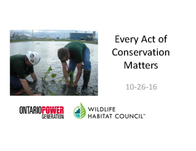 Every Act of Conservation Matters