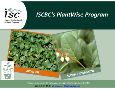 ISC BC's Plant Wise Program