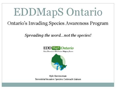 EDDMapS Ontario