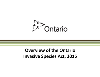 Invasive Species Act Overview