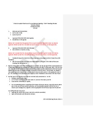 OIPC 2016 AGM Draft Minutes