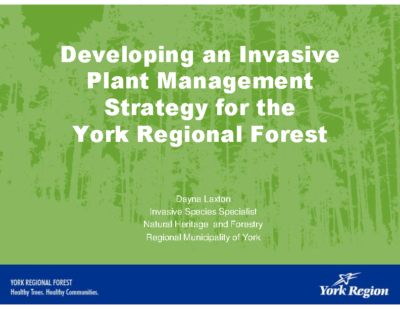 York Region Invasive Plant Strategy