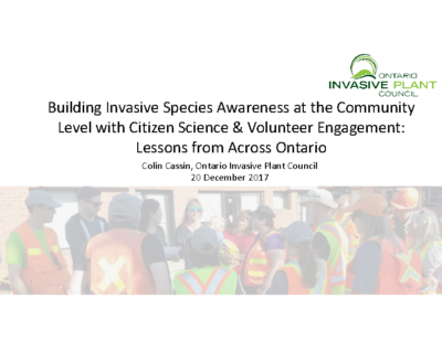 Volunteer Engagement in Invasive Plant Action