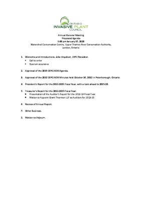 2019 AGM Agenda