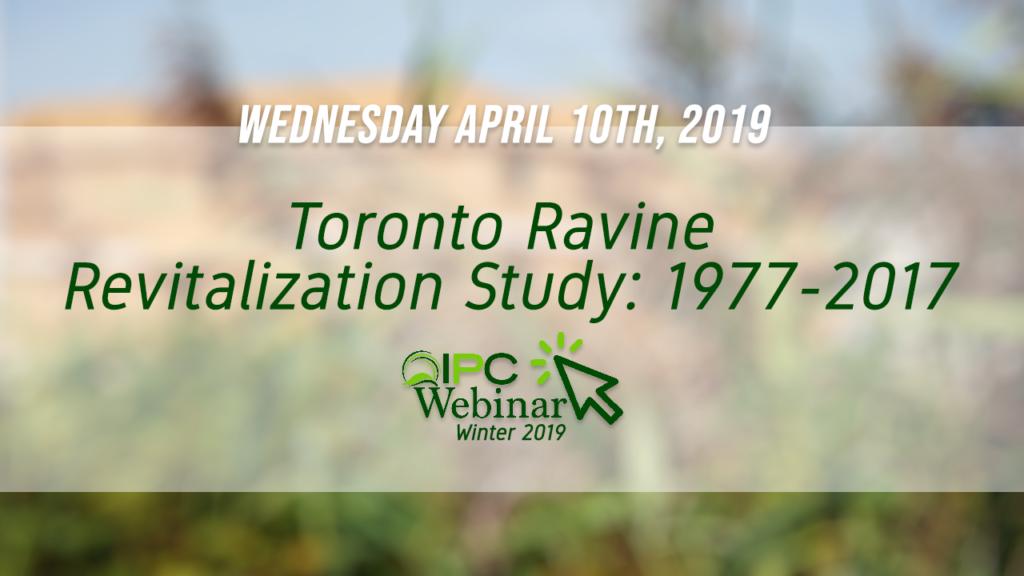 Toronto Ravine Revitalization Study: 1977-2017